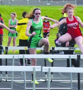 Fayetteville senior Meghan Koch won the 100 meter hurdle event at the RULH Invitational. Photo by Garth Shanklin - News Democrat