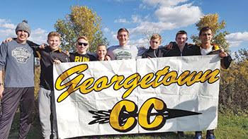 The entire Georgetown High School boys cross country team and freshman Katlin Colwell of the Georgetown High School girls team headed to the Division III Regional Meet after putting together exceptional performances in the district championship meet at West Chester's Voice of America Park on Oct. 22.