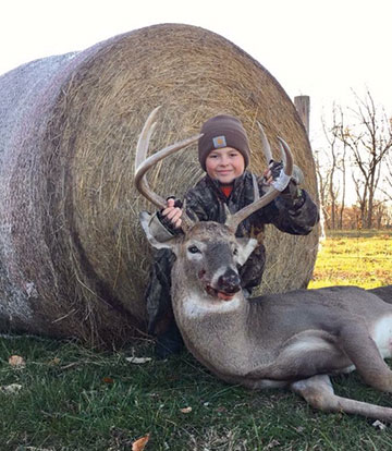 Clay Allen Phillips, 10, bagged this burly nine-point buck while youth hunting during the ODNR's Youth Gun Hunting Season that ran Nov. 19-20. This was his first year of hunting during the annual Youth Gun Season.