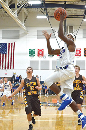 Ripley's Jaki Royal drives to the hoop for a score in the OHSAA Foundation Game held at Ripley, Nov. 18.